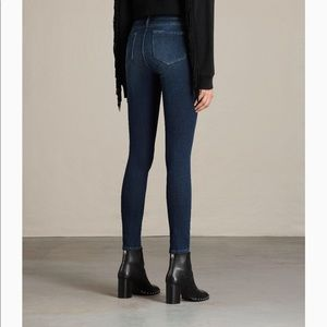 All Saints Jewel Mid Rise Jeans! Worn once!